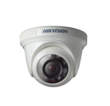Hikvision DS-2CE5AC0T-IRP 720P HD Indoor IR Night Vision Dome Camera (White)
